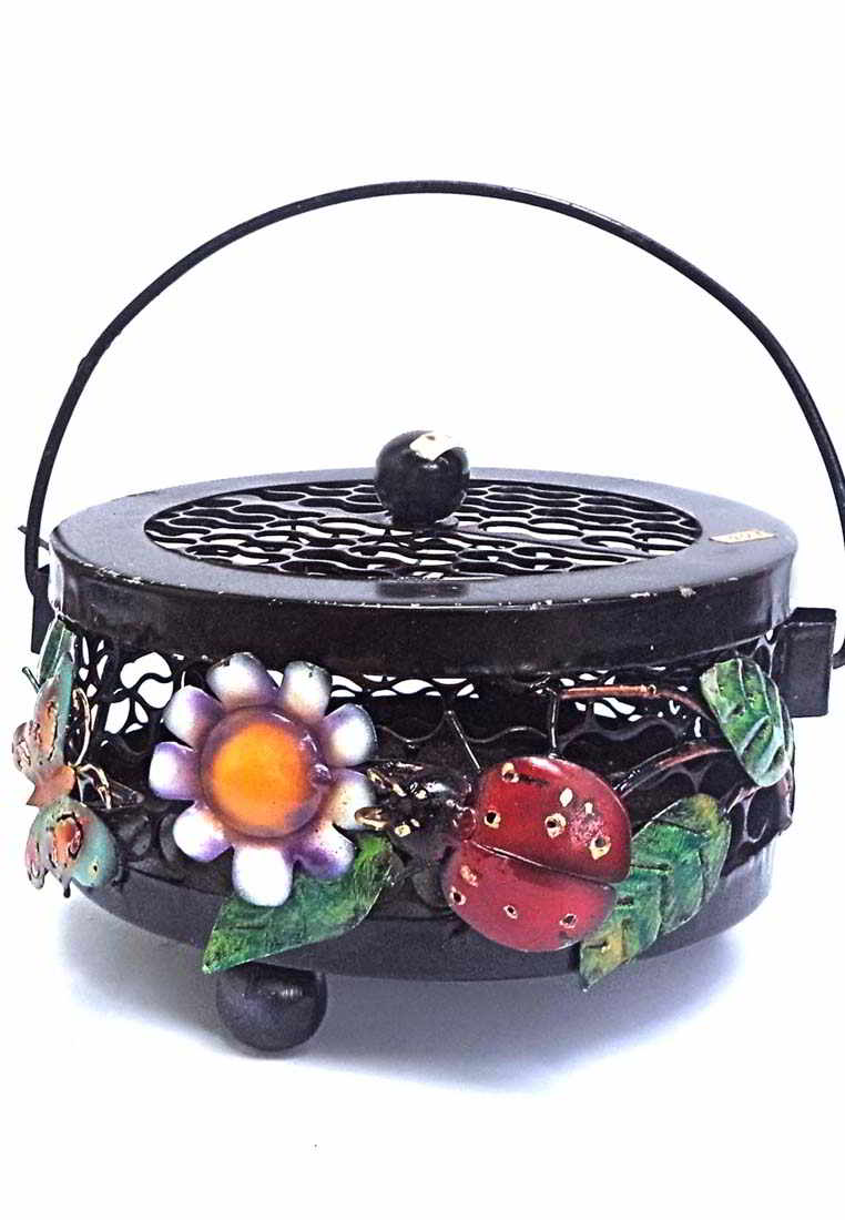 Balinese metal handicrafts Basket Mosquito Coil Holder