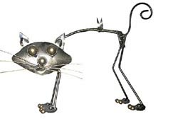 Bali wholesale Metal Handicrafts Iron Cat