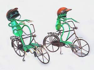 Bali Wholesale Metal Handicrafts Crazy Frog on Bike