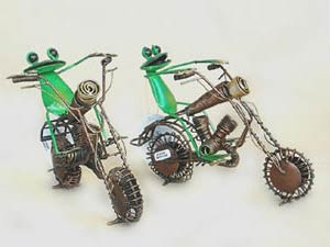Bali Wholesale Metal Handicrafts Frog Harley Decoration
