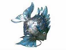 Bali Wholesale Metal Crafts Fish Candle Holder
