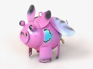 Wholesale Bali Metal Crafts Piggy with drums Candle Holder