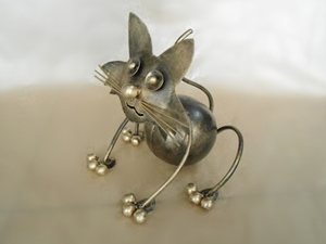 Wholesale Bali Metal Crafts Cat Brown Candle Holder